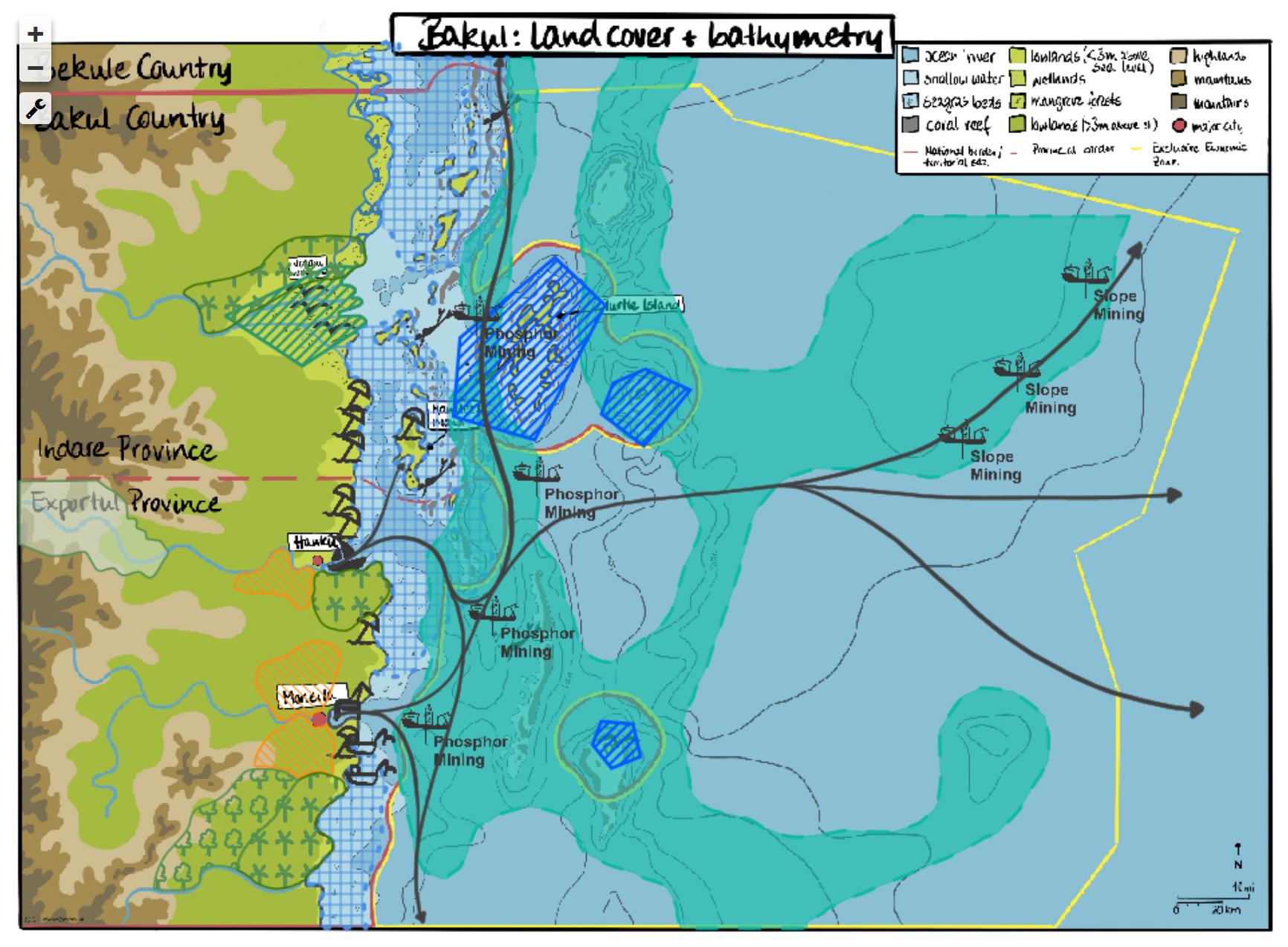 Marine Spatial Planning software SeaSketch showcasing Bakul
